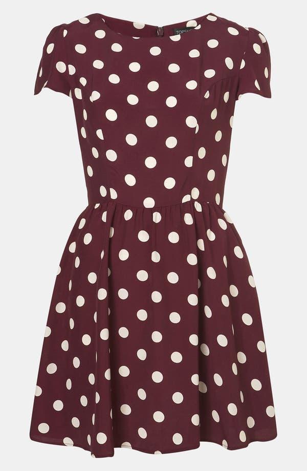 Main Image - Topshop Polka Dot Skater Dress