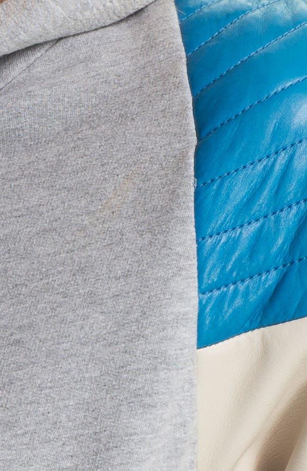 Alternate Image 3  - Rebecca Minkoff Quilted Leather Shoulder Hoodie