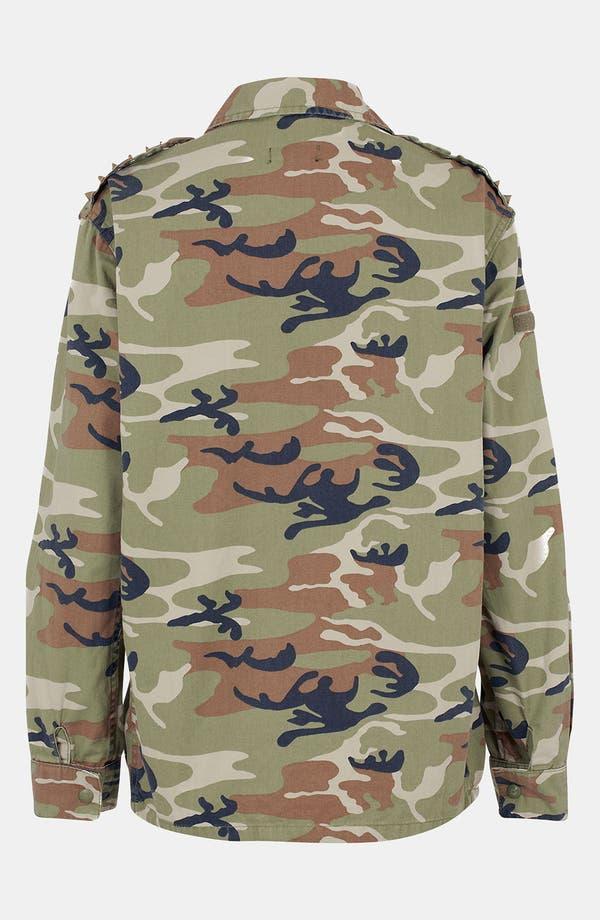 Alternate Image 2  - Topshop Studded Camo Jacket