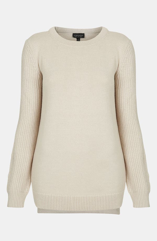 Alternate Image 1 Selected - Topshop Ribbed Sleeve Sweater