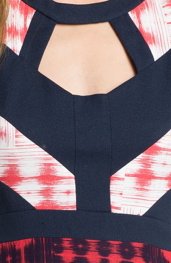 Alternate Image 3  - BCBGMAXAZRIA Contoured Ikat Print Sheath Dress