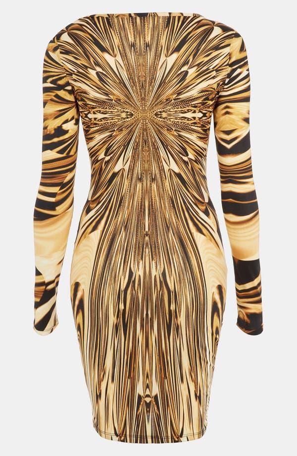 Alternate Image 2  - Topshop Liquid Print Body-Con Dress