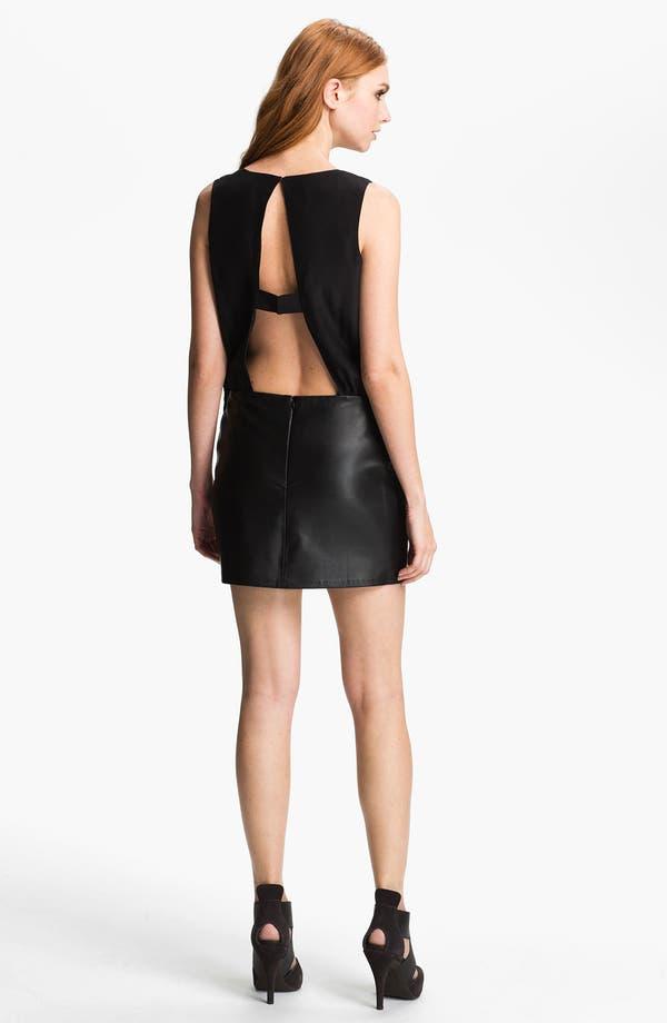 Alternate Image 2  - Parker 'Grace' Silk & Leather Blouson Dress