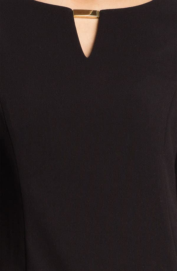 Alternate Image 3  - Eliza J Keyhole Knit Shift Dress (Petite)