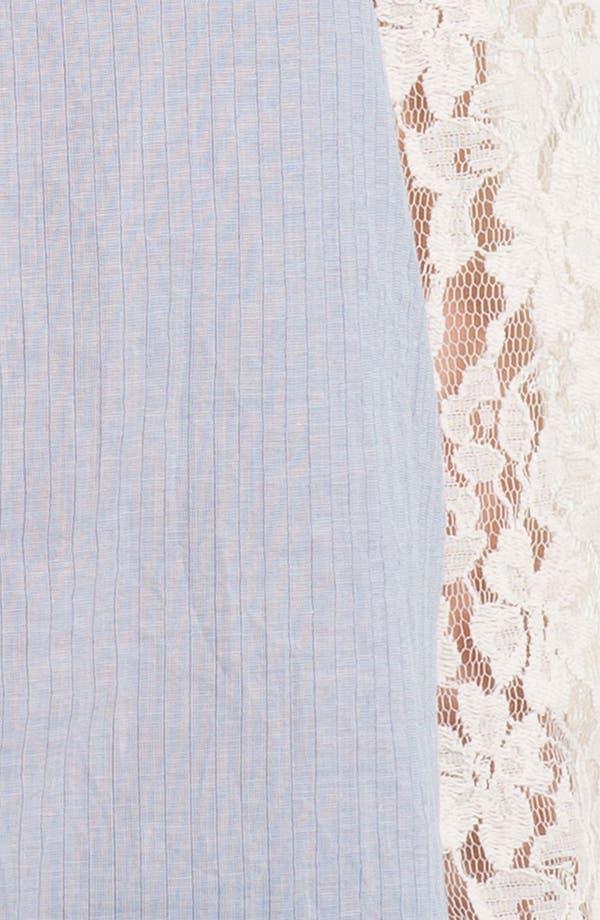 Alternate Image 3  - Hinge® Mixed Media Lace Sleeve Shirt