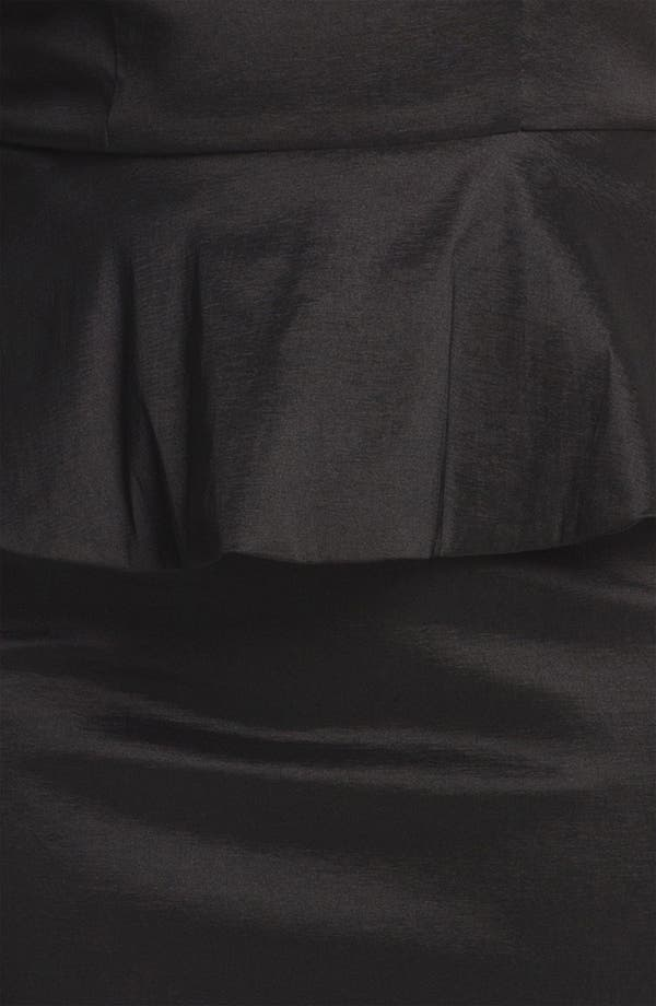 Alternate Image 3  - Xscape Lace Detail Peplum Dress (Plus Size)