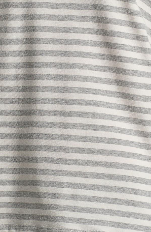 Alternate Image 3  - James Perse Stripe Short Sleeve Sweatshirt