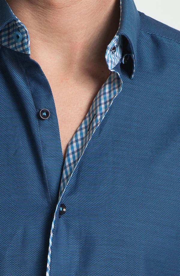 Alternate Image 3  - Stone Rose Texture Woven Shirt