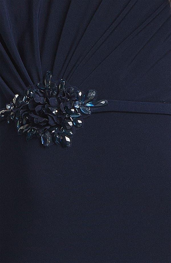 Alternate Image 3  - Kathy Hilton Embellished Long Sleeve Jersey Gown