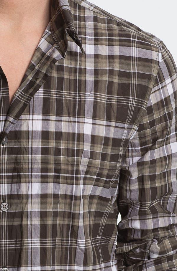 Alternate Image 3  - John Varvatos Star USA Slim Fit Wire Collar Shirt