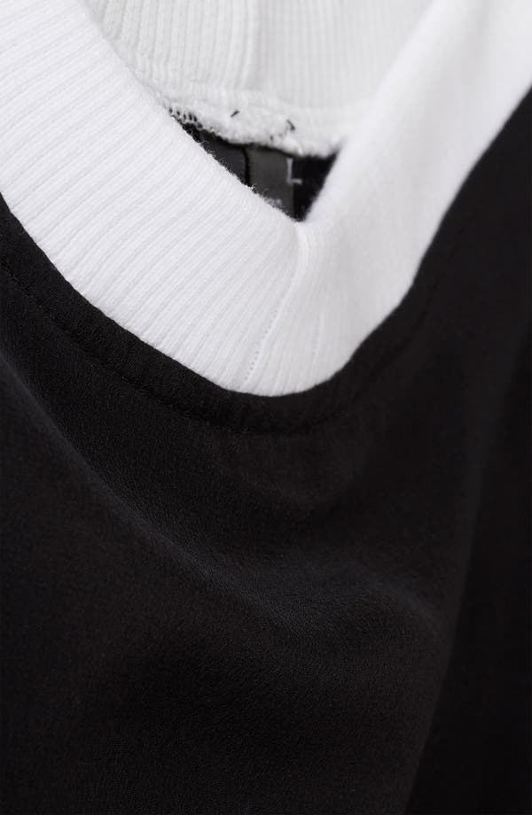 Alternate Image 3  - Topshop Contrast Neck Silk Tee
