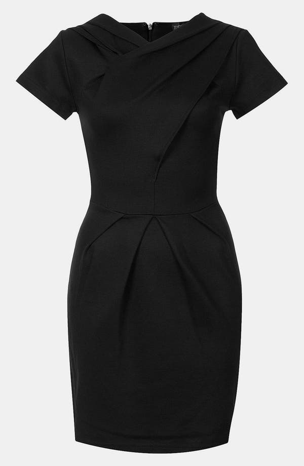 Alternate Image 1 Selected - Topshop Sculpted Pleat Pencil Dress
