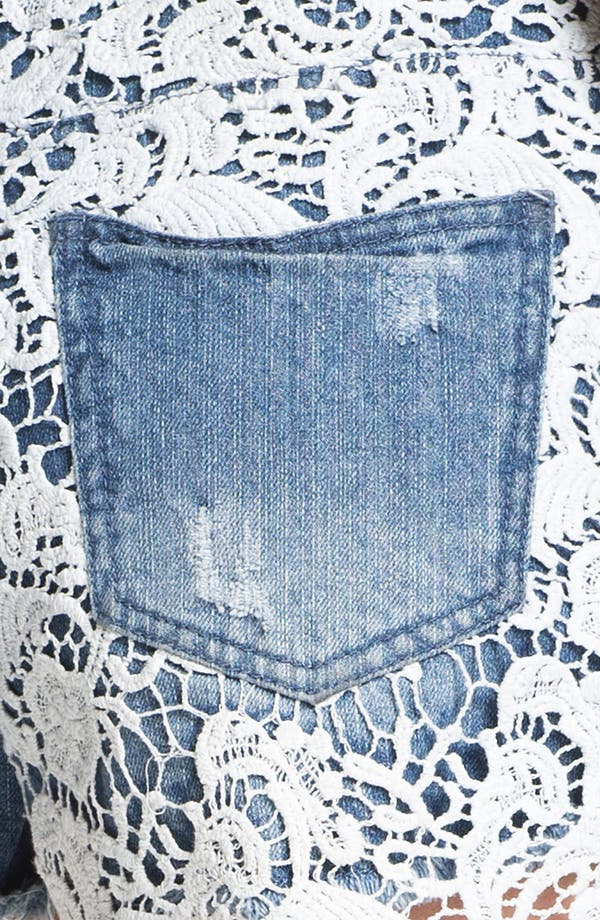Alternate Image 3  - Fire High Waist Lace Overlay Shorts (Juniors)