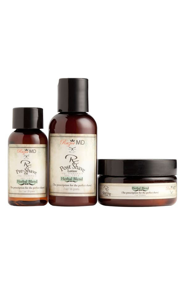 Alternate Image 1 Selected - Razor MD® 'Herbal Blend' Travel Kit ($42 Value)