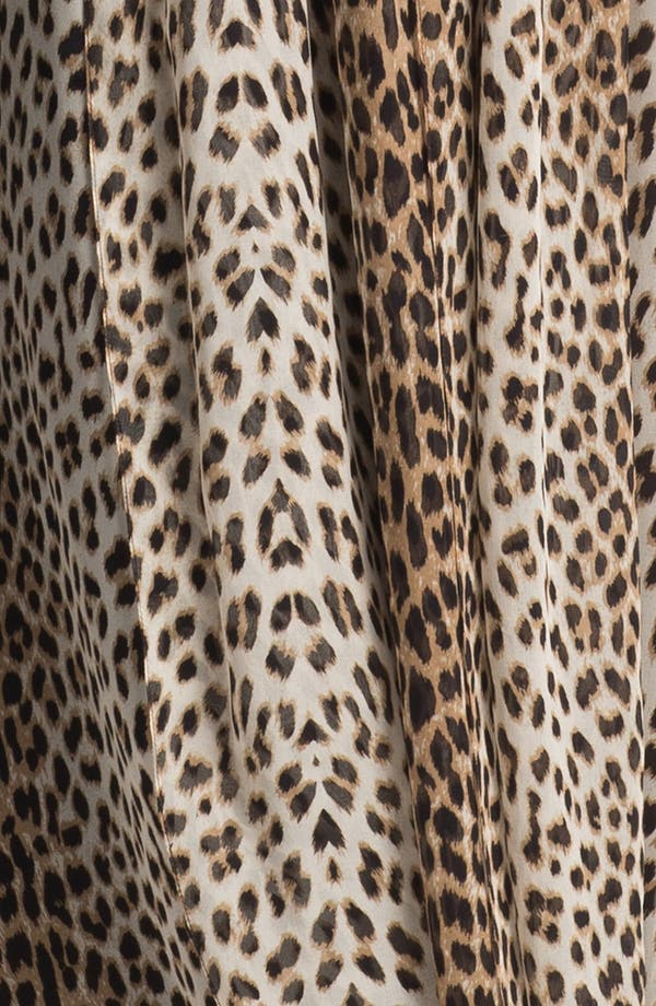Alternate Image 3  - Jenny Yoo 'Aidan' Convertible Leopard Print Long Chiffon Gown (Online Only)