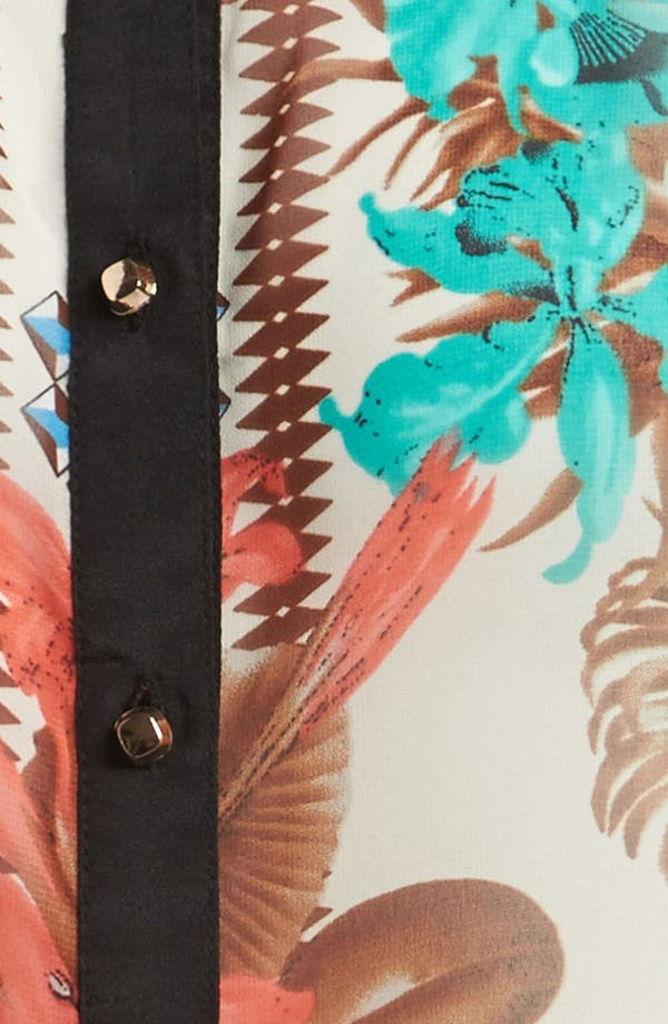 Alternate Image 3  - I.Madeline Sleeveless Hawaiian Print Blouse