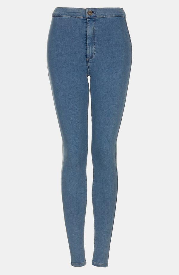 Alternate Image 3  - Topshop Moto 'Vintage Joni' High Rise Skinny Crop Jeans (Mid Stone)