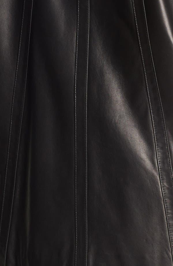 Alternate Image 3  - Ellen Tracy A-Line Leather Jacket (Plus Size)