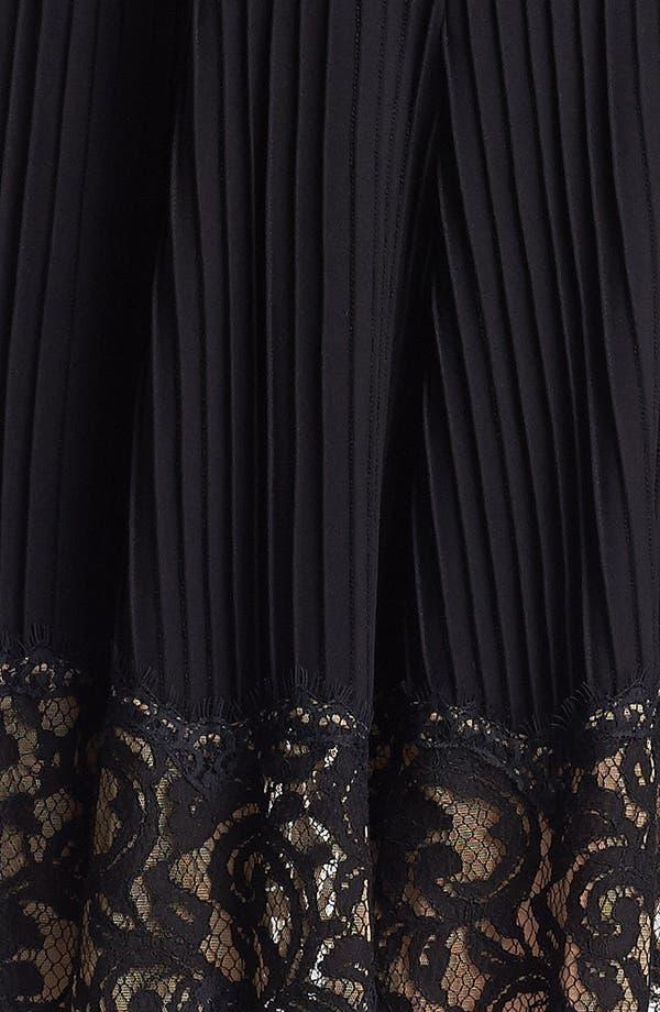 Alternate Image 3  - Tadashi Shoji Mixed Media Fit & Flare Dress