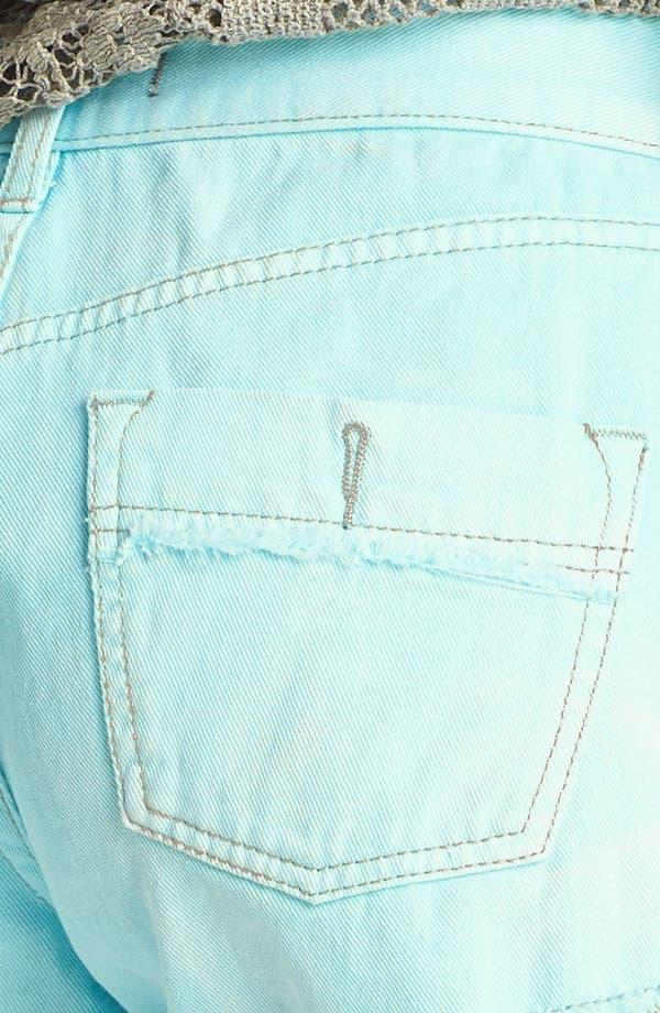 Alternate Image 3  - Free People 'Dolphin' Cutoff Denim Shorts (Aqua)