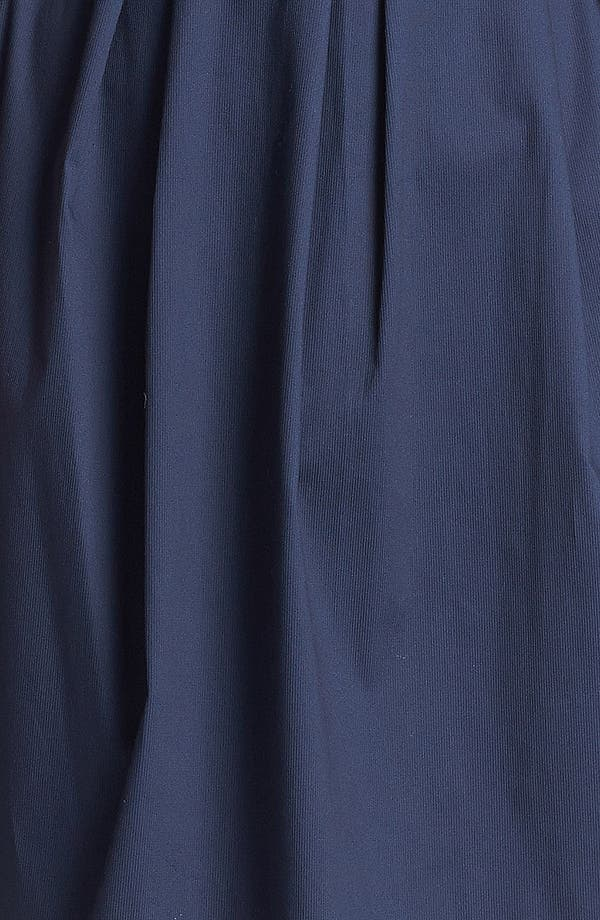 Piped Cotton Sheath Dress,                             Alternate thumbnail 3, color,                             Graphite