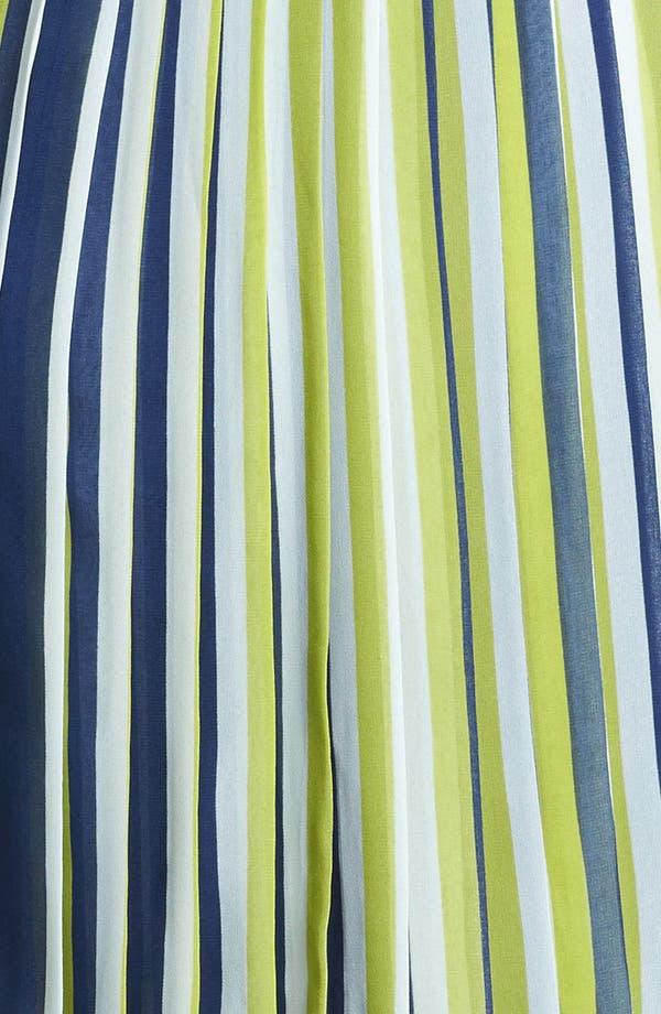 Alternate Image 3  - Miss Wu Stripe Pleated Chiffon Skirt (Nordstrom Exclusive)