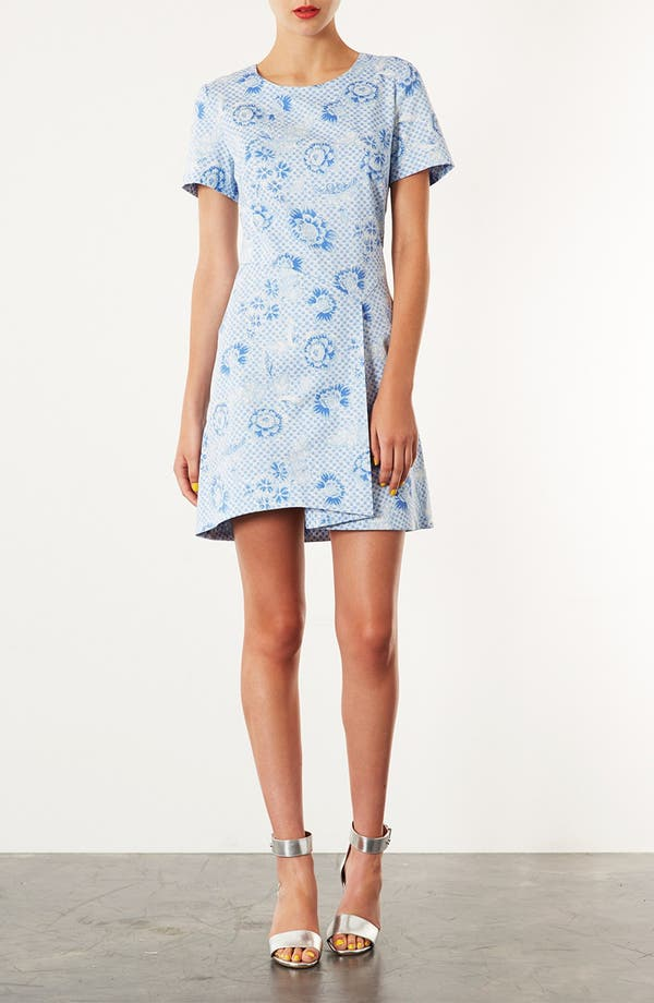 Alternate Image 1 Selected - Topshop 'Wedgewood Check' Origami Dress