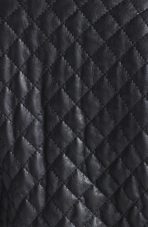 Alternate Image 3  - BCBGeneration Quilted Faux Leather Moto Jacket