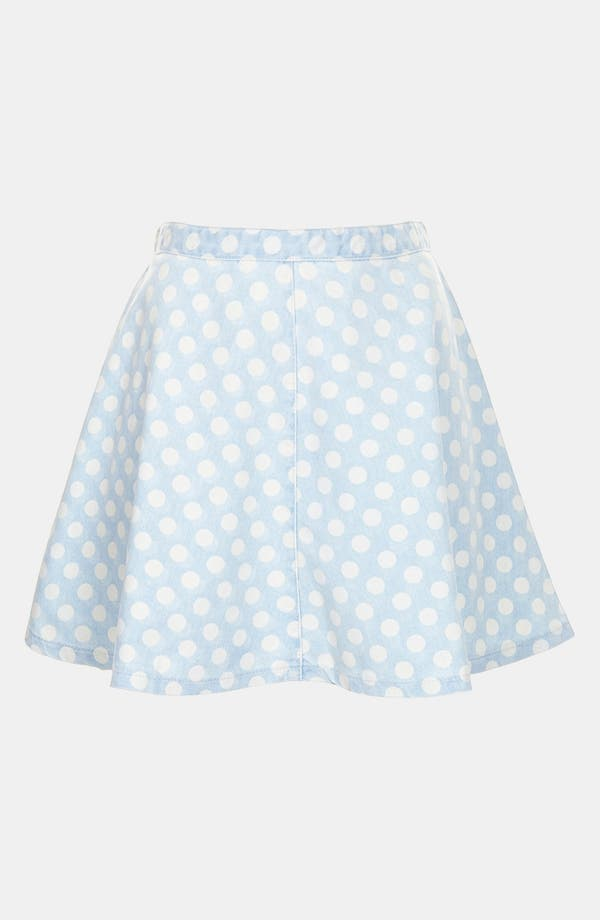 Alternate Image 3  - Topshop Moto Spotted Denim Skirt