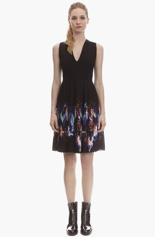 Main Image - sandro 'Repli' Pleated A-Line Dress