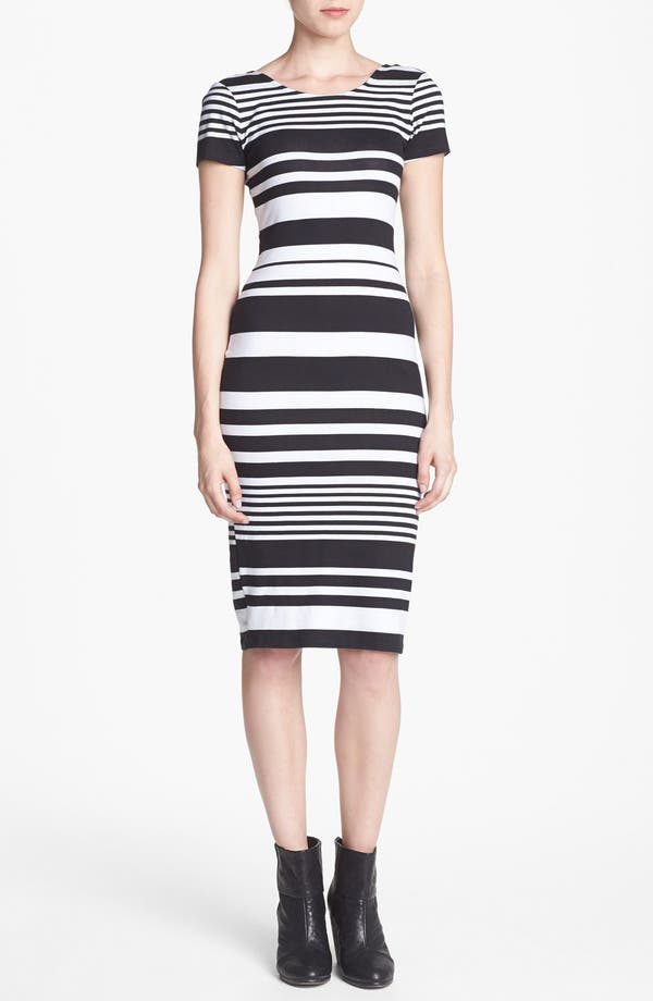 Alternate Image 1 Selected - WAYF Stripe Body-Con Dress