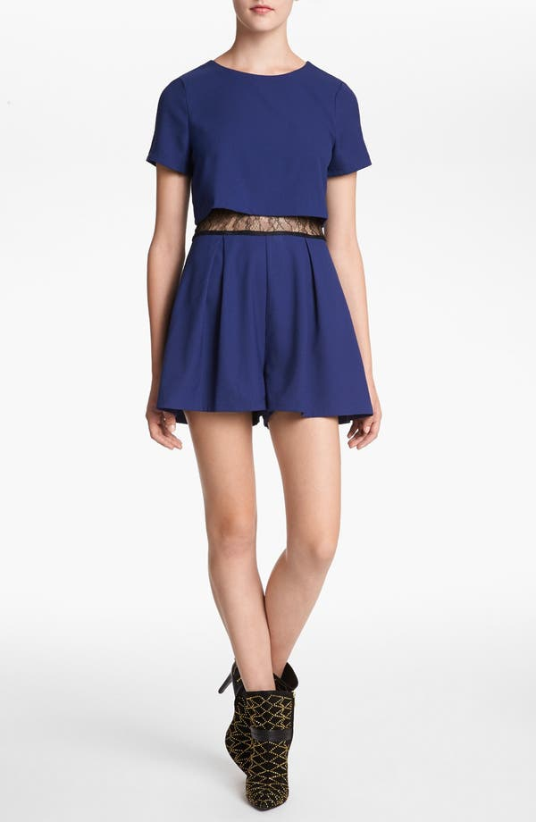 Alternate Image 1 Selected - ASTR Lace Inset Romper