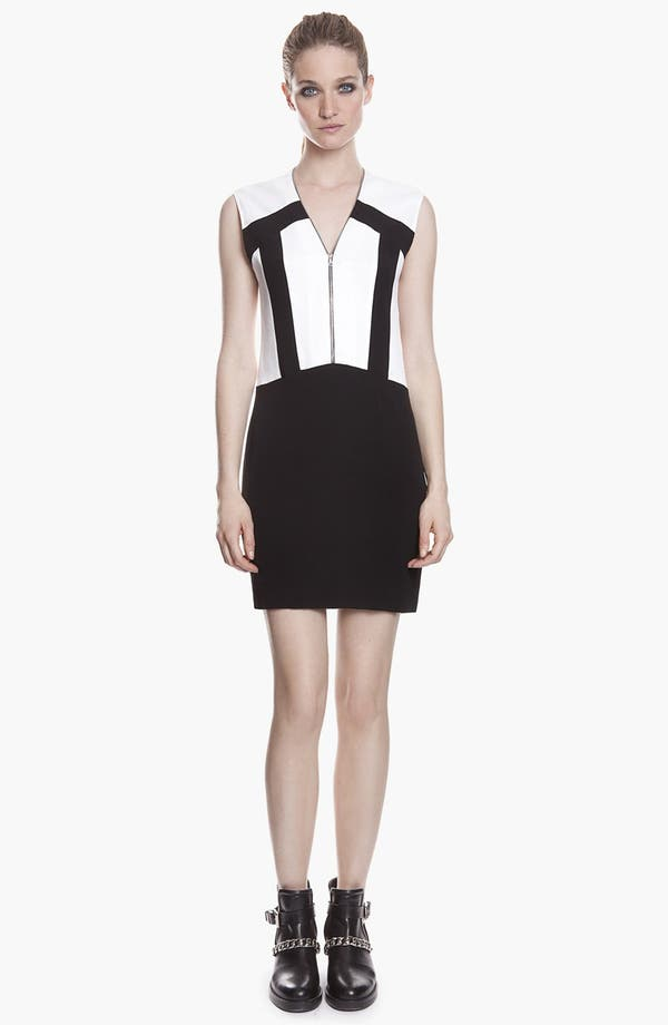 Alternate Image 1 Selected - sandro 'Ray' Zip Stretch Shift Dress