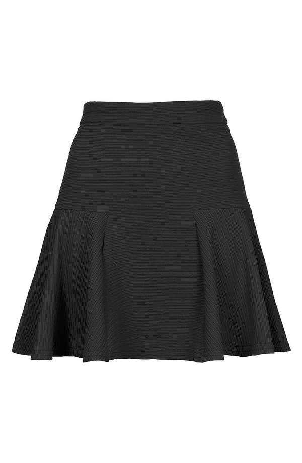 Main Image - Topshop Textured Skater Skirt