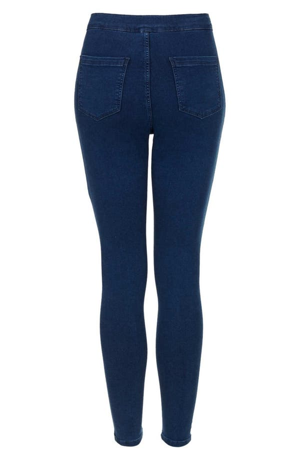 Alternate Image 2  - Topshop Moto High Rise Skinny Jeans (Blue) (Petite)