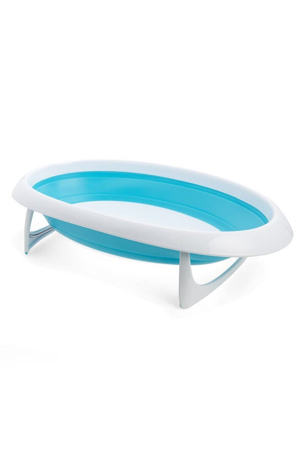 'Naked' Collapsible Bathtub,                             Main thumbnail 1, color,                             Blue And White