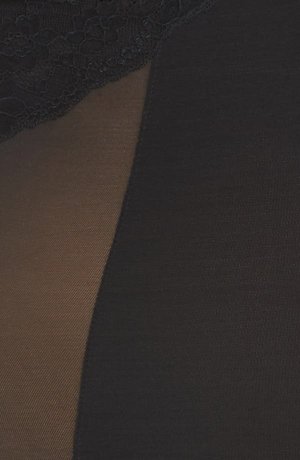 Spotlight On Lace Bodysuit,                             Alternate thumbnail 4, color,                             Very Black