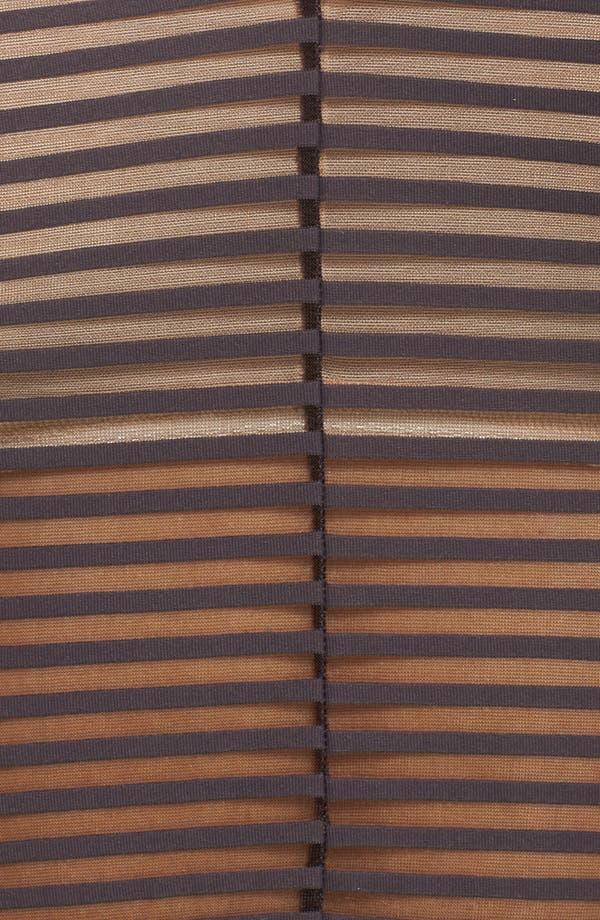 Bisou Tex Longline Bralette,                             Alternate thumbnail 5, color,                             Sheer Graphite Stripe