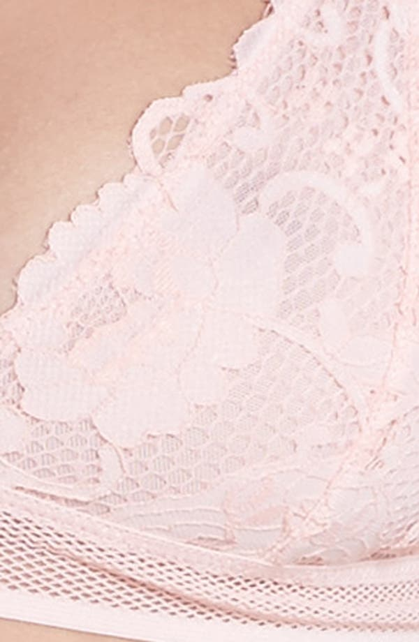 Lace Triangle Bralette,                             Alternate thumbnail 9, color,                             Dusty Pink