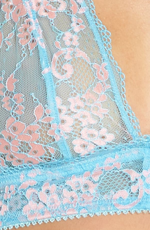 Camellia Lace Triangle Bralette,                             Alternate thumbnail 8, color,                             Country Sky