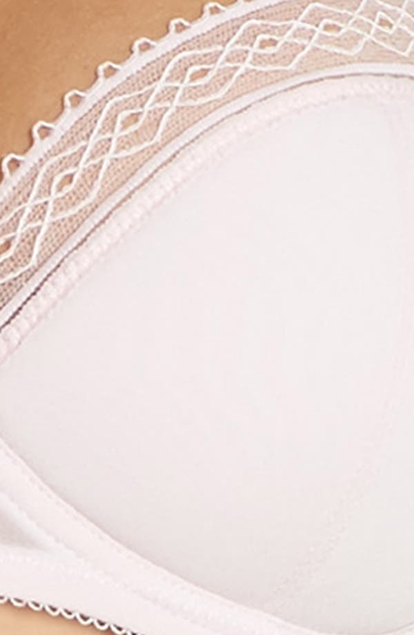 Tentation Douceur Padded Underwire Demi Bra,                             Alternate thumbnail 8, color,                             Rose Pastel