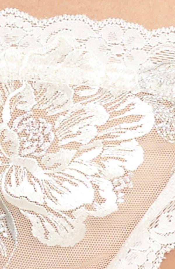 Floral Embroidered Bikini,                             Alternate thumbnail 8, color,                             Ivorgrypnk