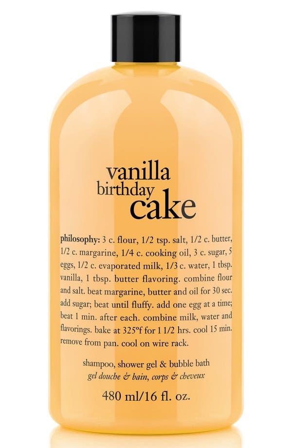 Alternate Image 1 Selected - philosophy 'vanilla birthday cake' shampoo, shower gel & bubble bath