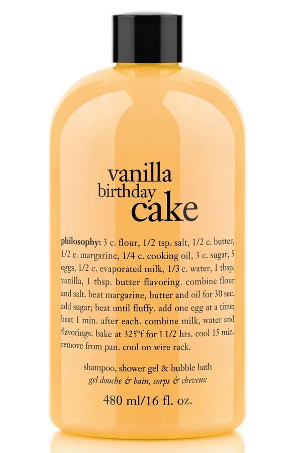 Philosophy Vanilla Birthday Cake Shampoo Shower Gel Bubble Bath