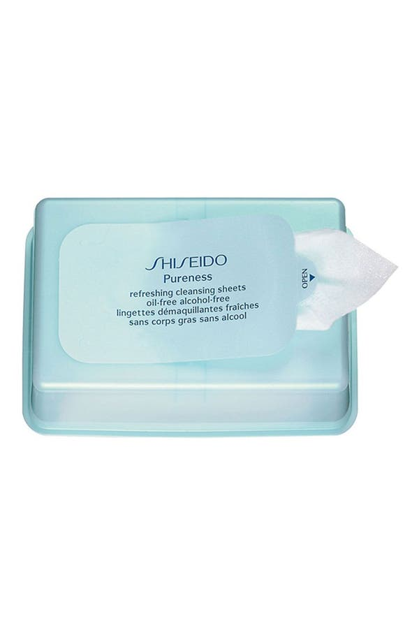 Main Image - Shiseido 'Pureness' Refreshing Cleansing Sheets