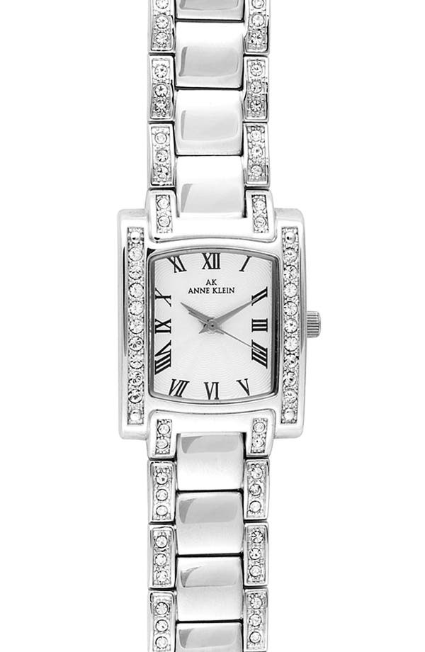 Alternate Image 1 Selected - Anne Klein Crystal Bezel Bracelet Watch