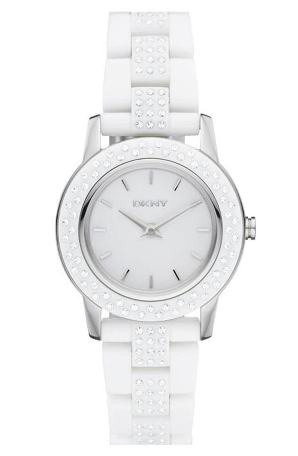 Alternate Image 1 Selected - DKNY 'Glitz' Small Round Dial Bracelet Watch
