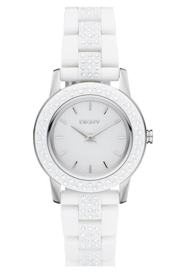 Main Image - DKNY 'Glitz' Small Round Dial Bracelet Watch