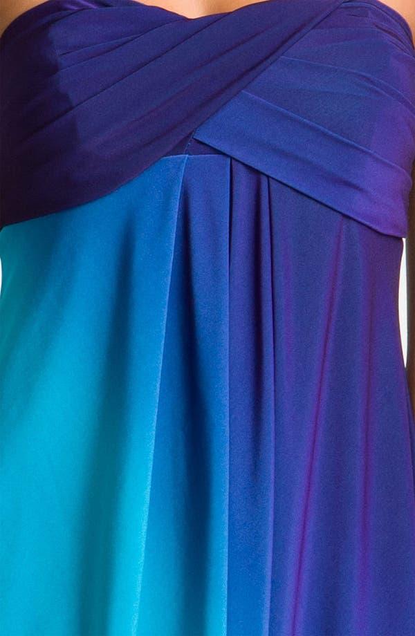 Alternate Image 3  - Xscape Strapless Ombré Jersey Dress