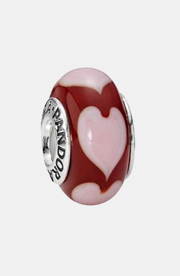 Alternate Image 1 Selected - PANDORA 'Love' Murano Glass Charm